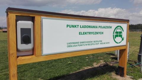 stacja ładowania  prądem pojazdów elektrycznych