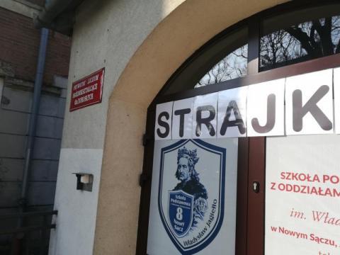 drugi dzień strajku szkół, fot. MŚ.