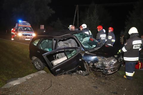 Pięć osób trafiło do szpitala. Jeden z mężczyzn był zakleszczony w samochodzie