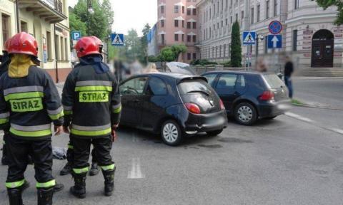Wypadek na skrzyżowaniu Jagiellońskiej i Mickiewicza