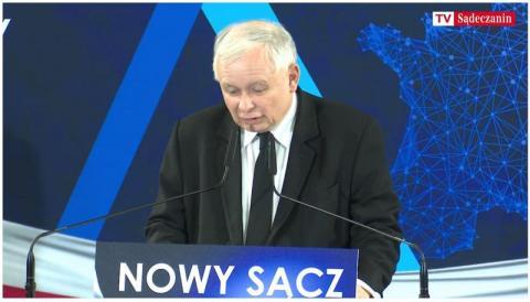 Jarosław Kaczyński w  Nowym Sączu