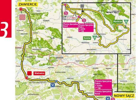 Tour de Pologne: 14. i 15. lipca zamkną drogi w Kamionce Wielkiej. Trzeba usunąć samochody