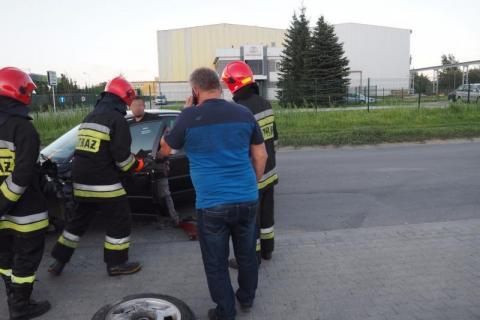 kolizja samochodów ulica Jana Pawła II Nowy Sącz