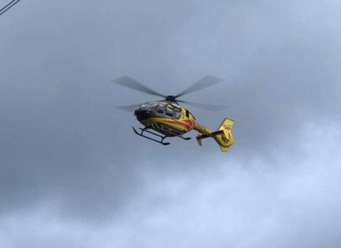 W Limanowej doszło do poważnego wypadku. Śmigłowiec LPR zabrał 13-latka