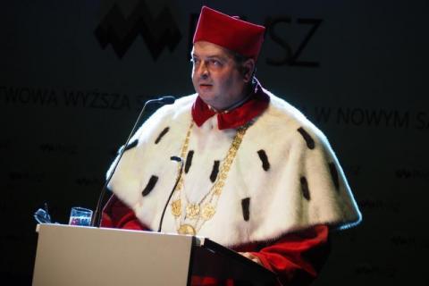 Prof. Mariusz Cygnar, rektor Państwowej Wyższej Szkoły Zawodowej w Nowym Sączu