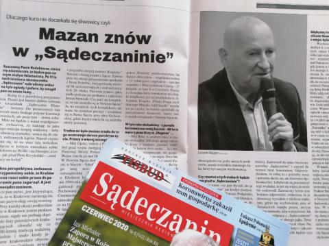 """Dlaczego kura nie doczekała się śliwowicy, czyli Mazan znów w """"Sądeczaninie"""""""