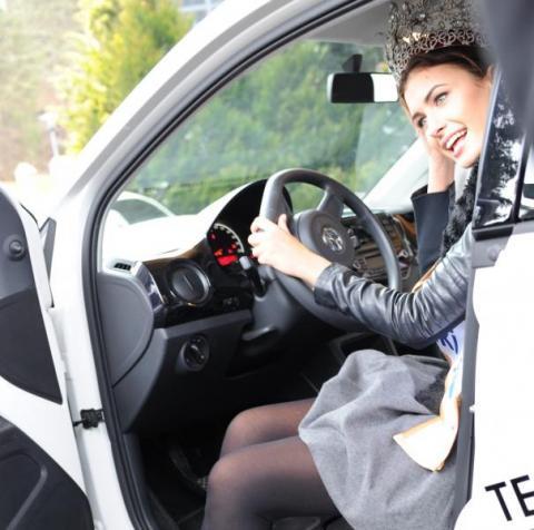 Z obowiązków kierowcy nie zwalnia nawet tytuł Miss