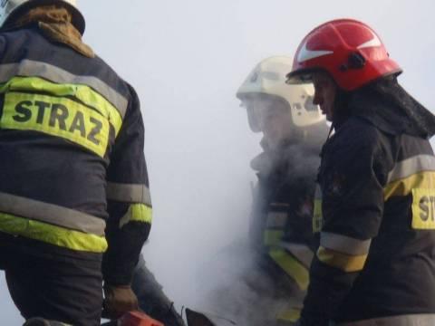 Pożar domu w Klęczanach
