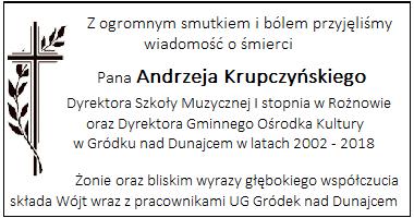 Andrzej Krupczyński kondolencje