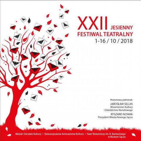 program XXII Jesiennego Festiwalu Teatralnego w Nowym Sączu