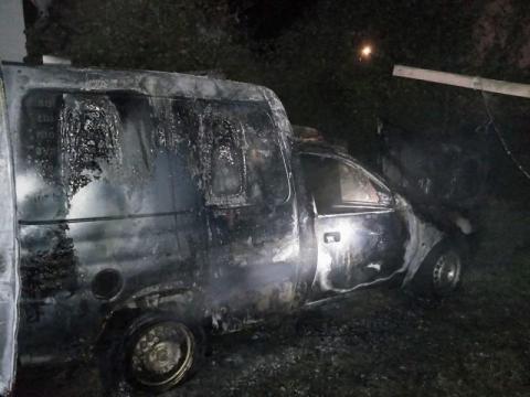 Pożar samochodu w Gołkowicach Dolnych