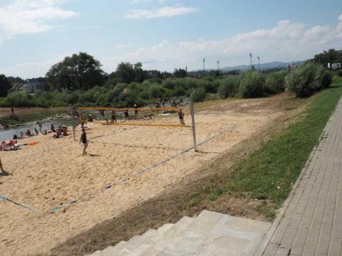 Plaża nad Kamienicą, fot. arch. Sadeczanin.info