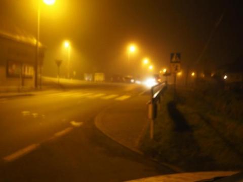 Jazda po Nowym Sączu z duszą na ramieniu. Mgła gęsta jak mleko