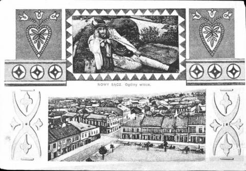 Pocztówka z Nowego Sącza 1924 rok