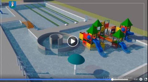 Nowy basen przy ul. Zdrojowej w Nowym Sączu/print screen/profil Ludomira Handzla