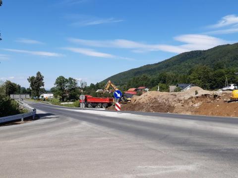 Przebudowa skrzyżowania w Maciejowej