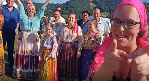 Rumuńscy artyści pozdrawiają z Festiwalu Lachów i Górali Europa Karpat [WIDEO]