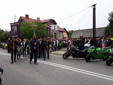 Pogrzeb 24-letniego motocyklisty z Tylicza