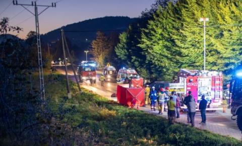 Zderzyły się aż trzy samochody. Śmigłowiec LPR w akcji