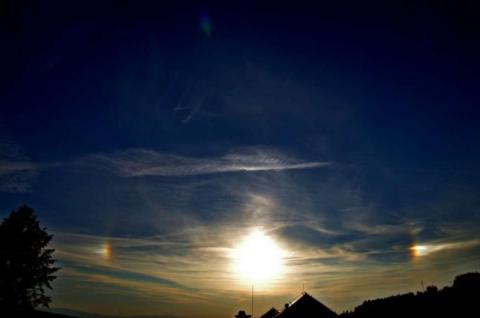 Słońca poboczne w Cieniawie