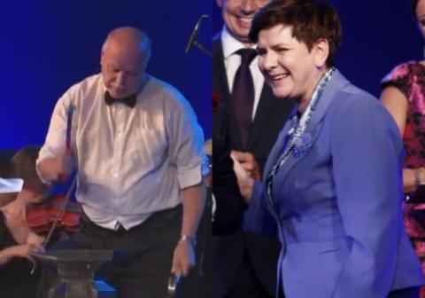 5 złotych dla premier Beaty Szydło. Zasypiemy dziurę budżetową - cieszy się premier w Krynicy [FILM]