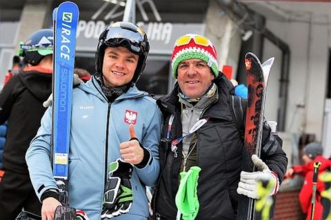 Mistrzostwa Polski Seniorów w narciarstwie alpejskim:brąz dla Szymona Bębenka