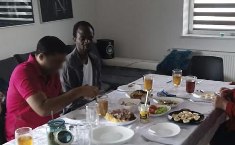 Zaprosił bezdomnego Afrosądeczanina do swojego domu. Długo zapamięta te święta
