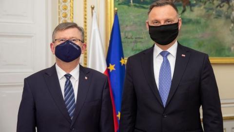 Witold Kozłowski u prezydenta Andrzeja Dudy.  Rozmawiali dwie godziny