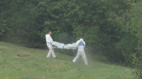 W Biczycach strażacy znaleźli zwłoki mężczyzny. Jak zginął? [WIDEO]