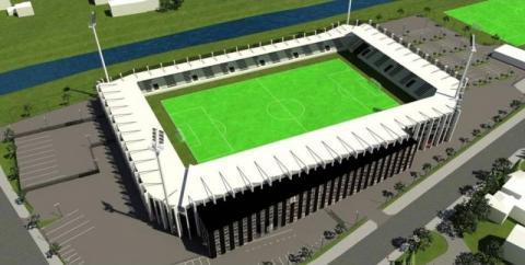 Budowa stadionu Sandecji
