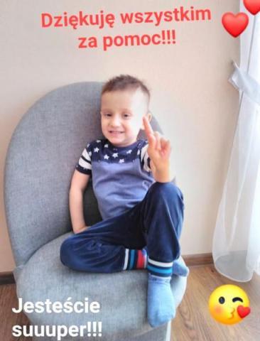 3-letni Wojtuś walczy ponownie ze złośliwym nowotworem. Potrzebna pomoc!