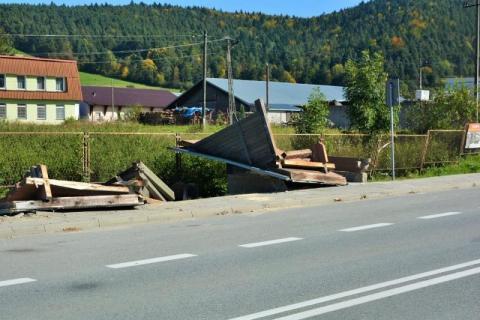 Wypadek w Łabowej