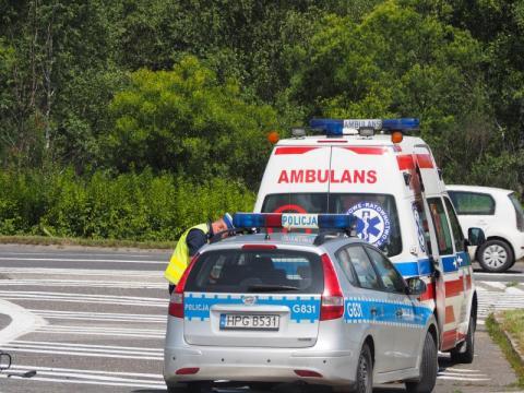Wypadek na krajówce. Zderzyły się dwa samochody