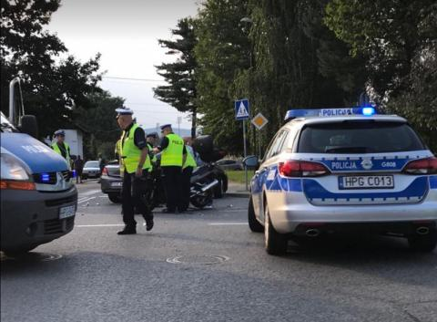 wypadek na ul. Królowej Jadwigi w Nowym Sączu