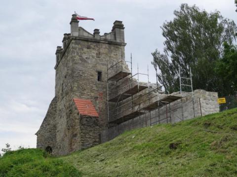 Ruiny zamku w Nowym Sączu. Fot. IM