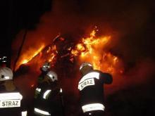 Przez cztery godziny walczyli z ogniem. Budynek spłonął doszczętnie
