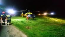 W Gródku nad Dunajcem lądował śmigłowiec. 2-letnie dziecko trafiło do szpitala