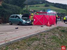 Zmarł 19-letni motocyklista, ciężko ranny w wypadku w Laskowej [WIDEO]