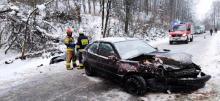 23-latka straciła panowanie nad samochodem. Zderzyła się czołowo z Audi