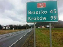 Uwaga! Na DK-75 Nowy Sącz-Brzesko ruch wahadłowy. Ratownicy usuwają olej