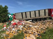 Wypadek w Biczycach: zginął kierowca tira. Droga już odblokowana [WIDEO]