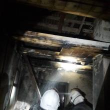 Pożar poddasza w Łabowej, fot. PSP w Nowym Sączu