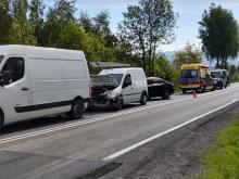 Poranny wypadek w Biczycach Górnych. Na DK-28 zderzyły się aż trzy samochody