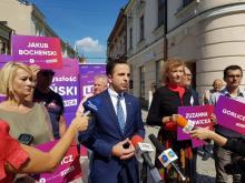 Lewica zaprezentowała listy wyborcze, fot. Iga Michalec