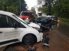 Groźny wypadek w Librantowej, są ranni. Spore utrudnienia w ruchu [ZDJĘCIA]
