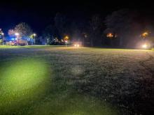 W nocy na boisku lądował śmigłowiec LPR. Pomocy potrzebował 70-latek