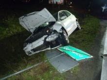 Ich samochody zderzyły się ze sobą w Stadłach. Dobrze, że nikt nie zginął