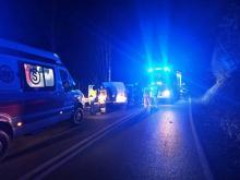 Nocny wypadek w Andrzejówce. Ranna kobieta trafiła do szpitala [ZDJĘCIA]