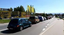 Korki na ulicy Węgierskiej