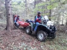 Wypadek na Hali Łabowskiej. Ratownicy GOPR ratowali biegacza